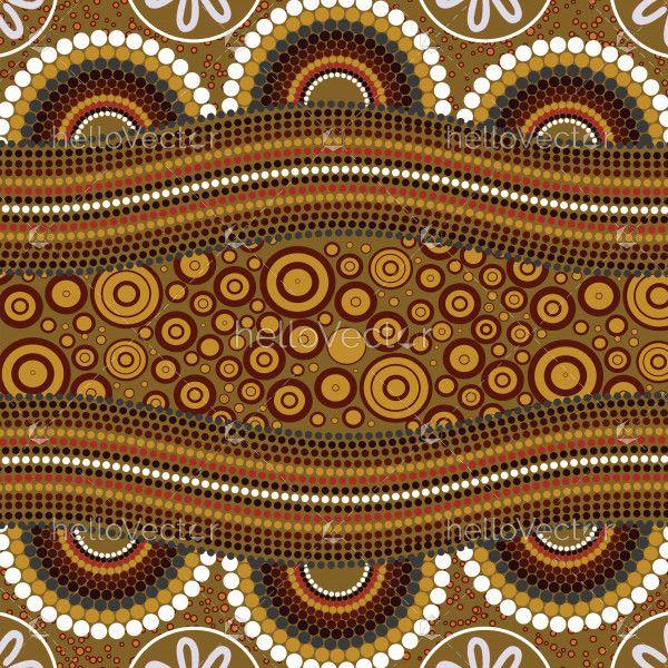 Aboriginal art vector painting.