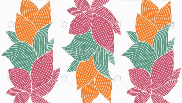 Floral seamless pattern vector background