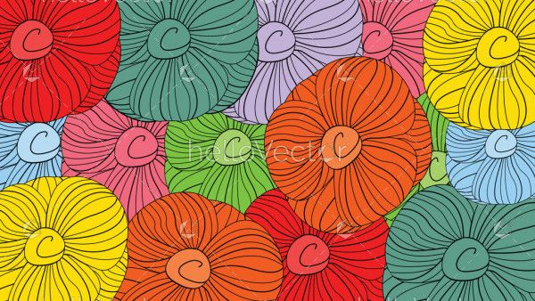 Floral seamless pattern vector background.