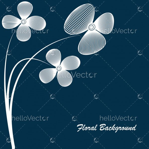 Floral vector banner background with text