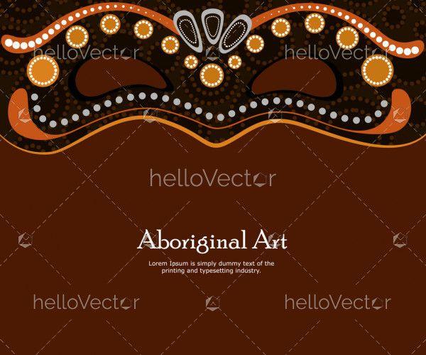 Dot art vector banner with mask