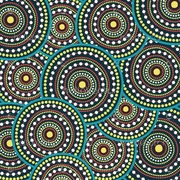 Aboriginal art vector seamless background. Connection concept