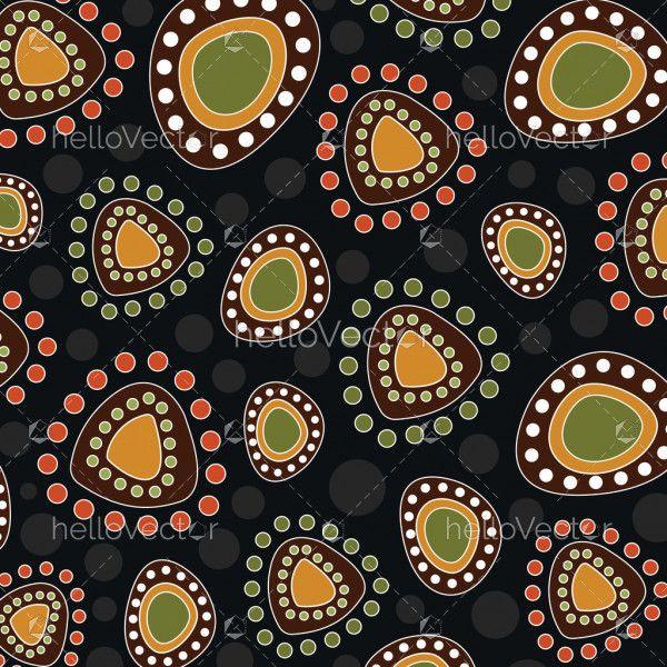 Aboriginal art vector dot background