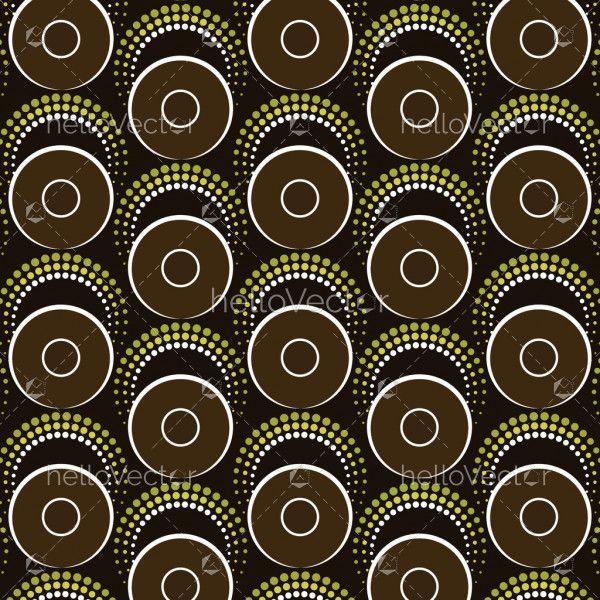 Aboriginal art vector seamless background