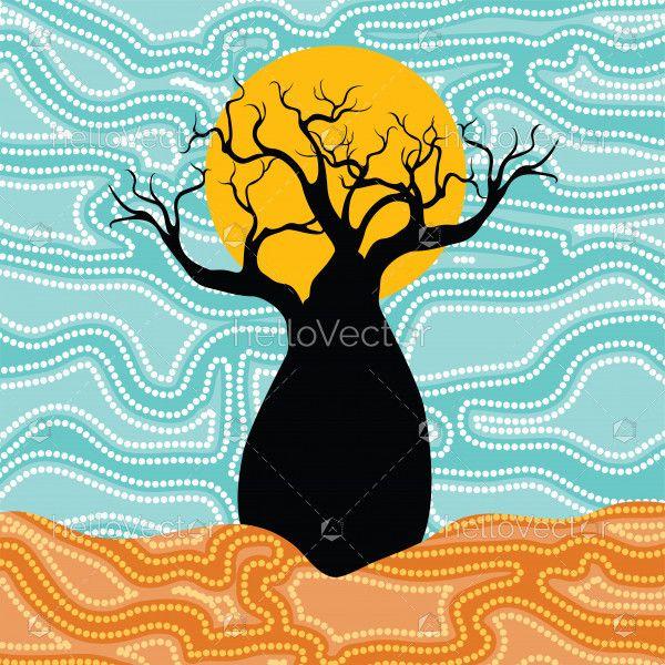Boab (Baobab) Tree Vector Painting.