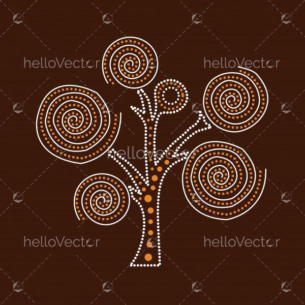 Aboriginal Tree Illustration.