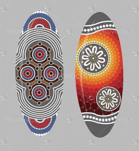 Aboriginal shield (Vector art).