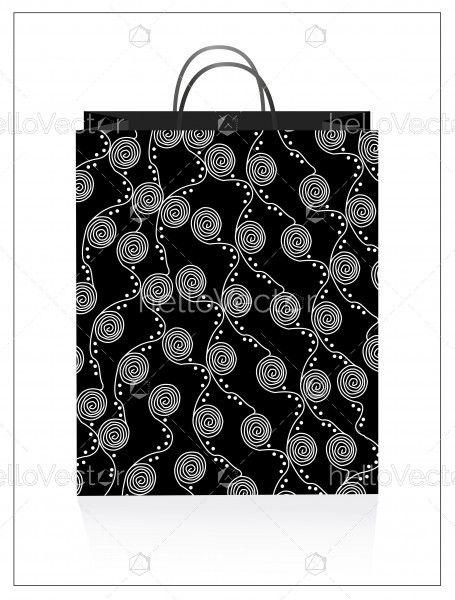 Tote bag with aboriginal art.