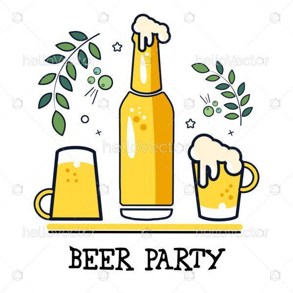 Beer banner graphic - Vector illustration