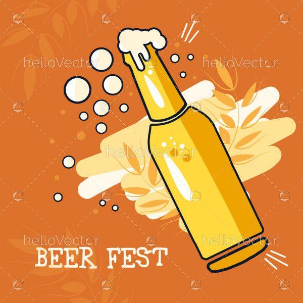 Bottle of beer - Vector illustration