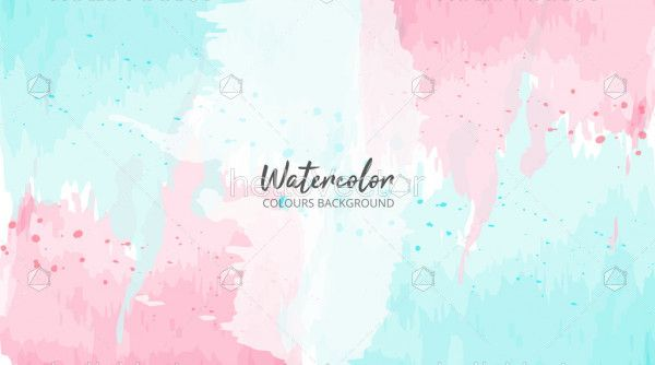 Abstract watercolor background - Vector Illustration