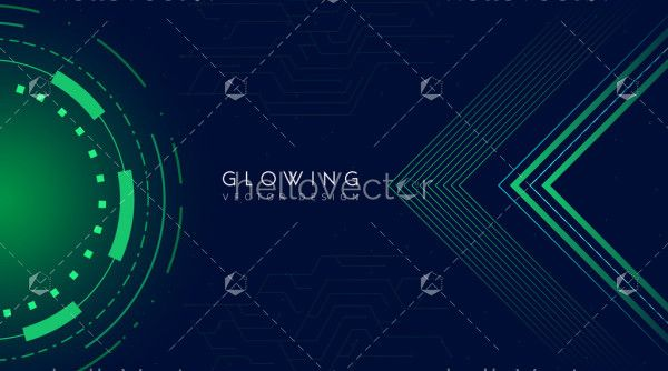 Abstract technology shape background - Vector illustration