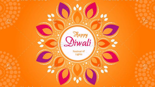 Happy Diwali vector decorative banner.