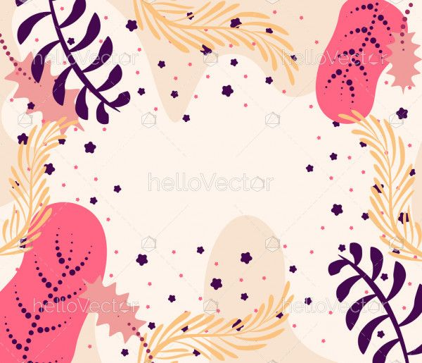 Abstract vector floral leaves background