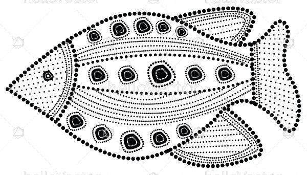 Aboriginal fish illustration