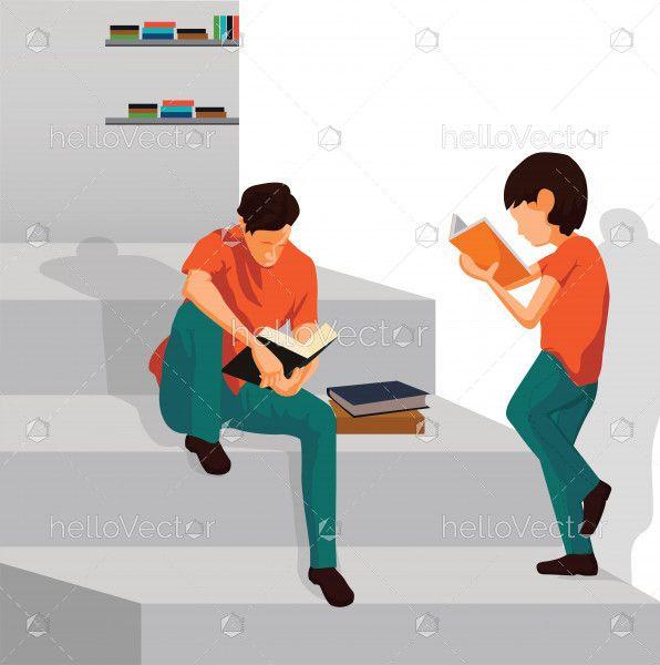 Love Reading Vector Illustration