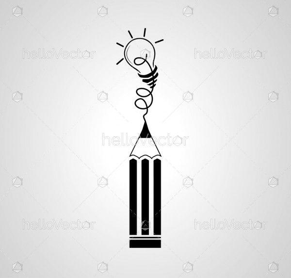 Best idea concept with pencil