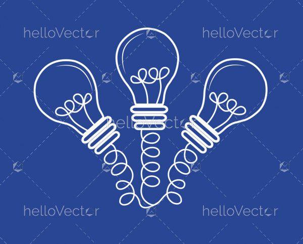Multiple idea concept vector illustration