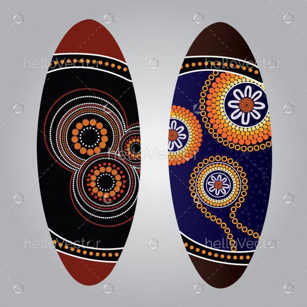 Aboriginal shield (Vector art)