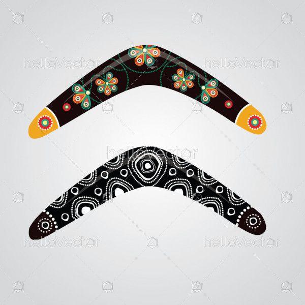 Australian boomerang vector