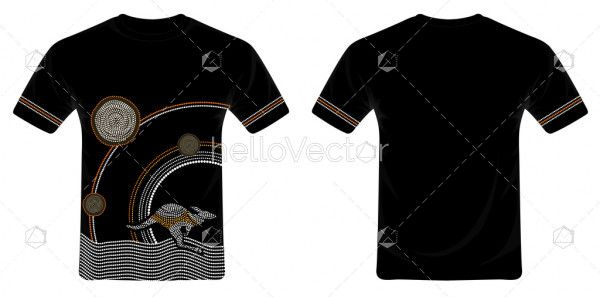 T-Shirt design with aboriginal art