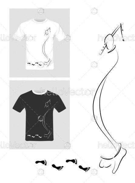 T-shirt graphic design vector illustration