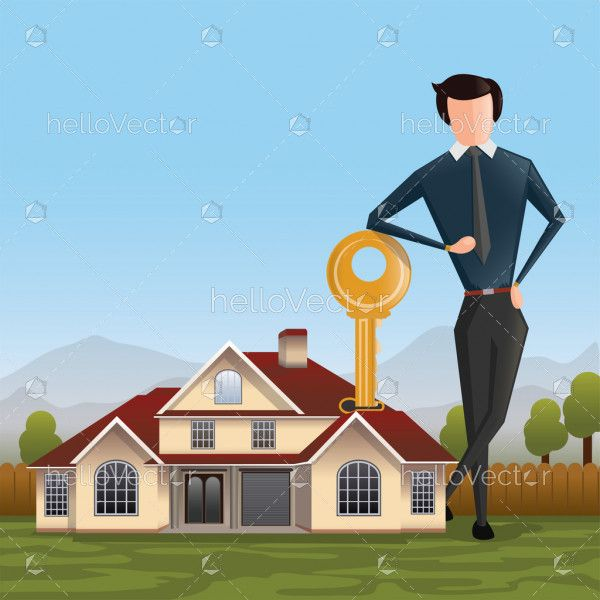 Real Estate concept vector background