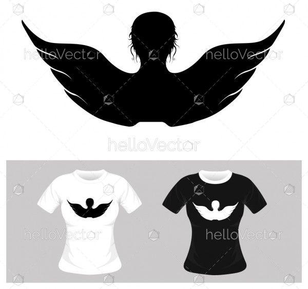 Freedom concept vector illustration. T-shirt graphic design