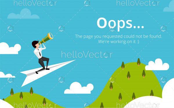 404 web page layout