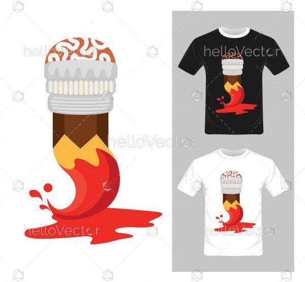 T-shirt graphic design. Art concept vector - illustration