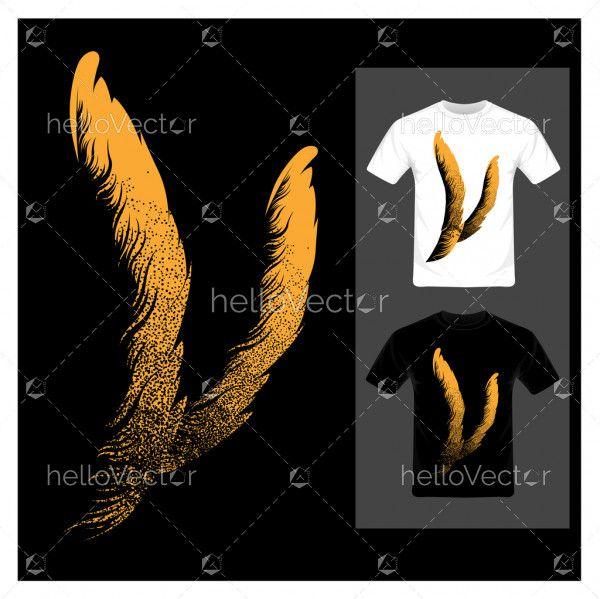 T-shirt graphic design - Vector illustration