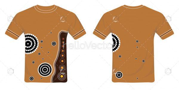 Aboriginal Art T-Shirt Design