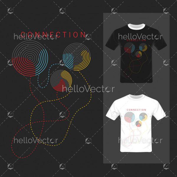 Connection vector illustration - T-shirt graphic design