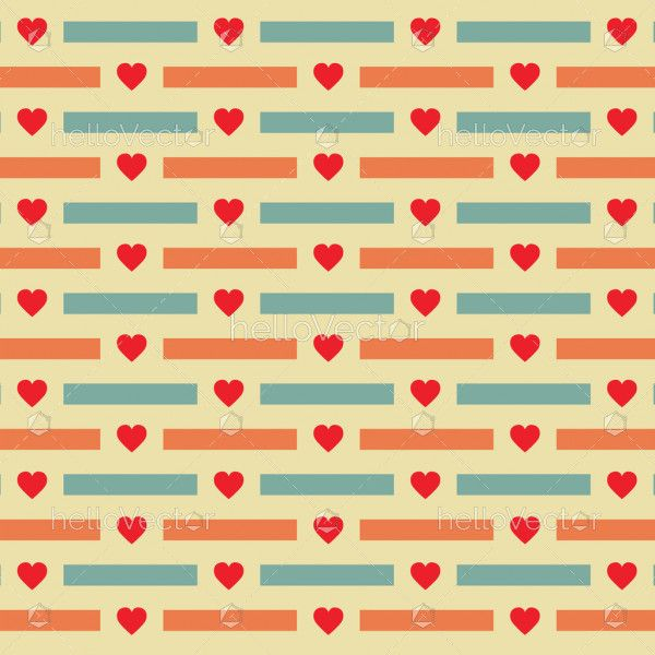 Heart shape pattern background - Vector illustration
