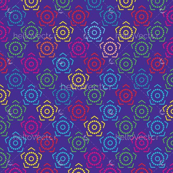 Modern stylish texture background. Seamless pattern - Vector illustration