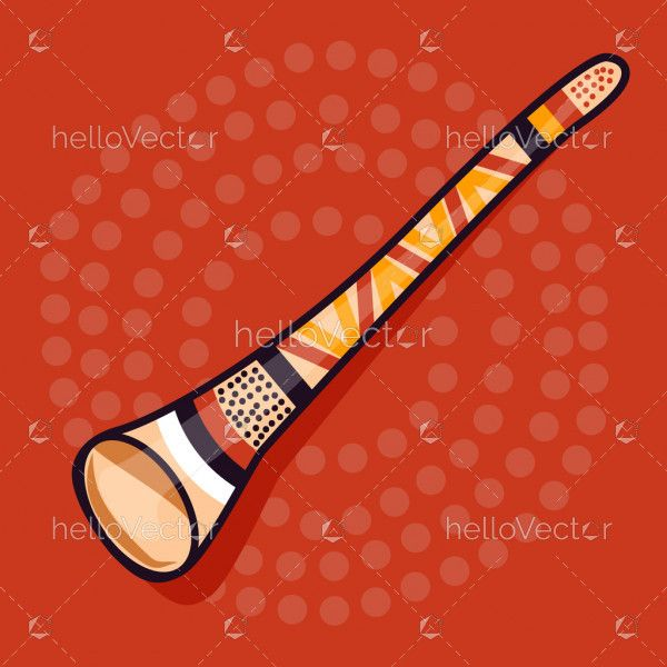 Didgeridoo musical instrument - Vector Illustration