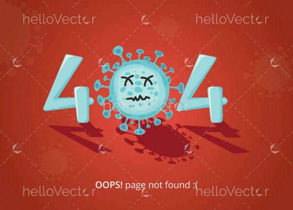Error 404 landing page template