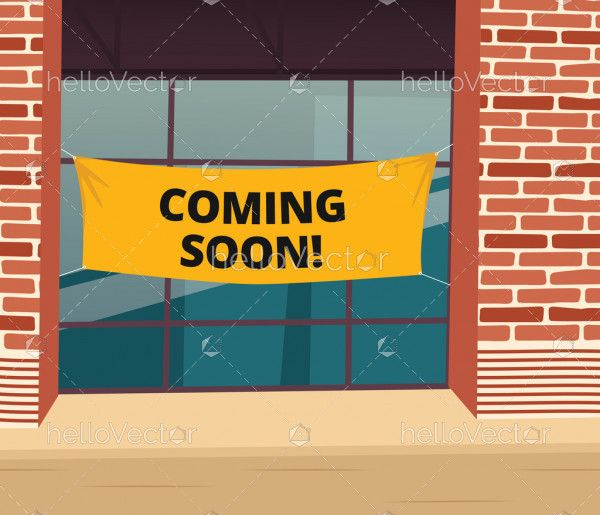 Coming soon vector template