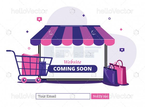 Website coming soon landing page template