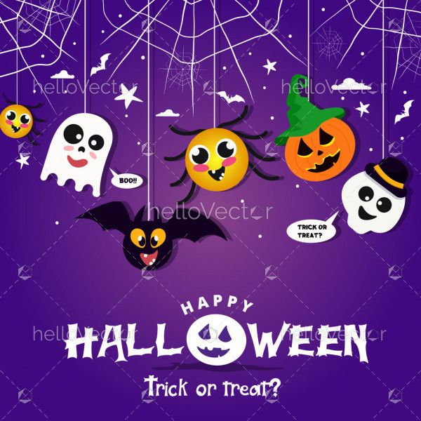 Spooky Halloween poster background