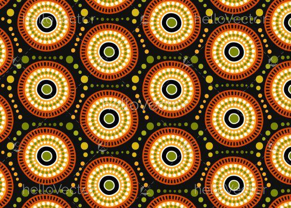 Aboriginal dot art seamless pattern background