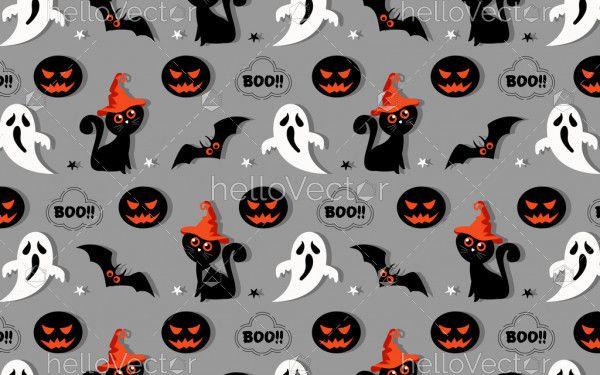 Halloween seamless vector background