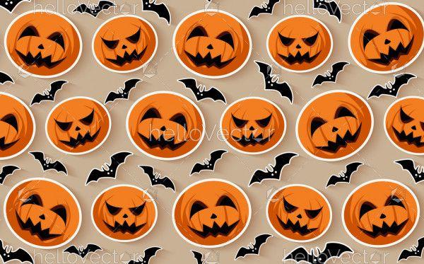 Halloween seamless pattern background