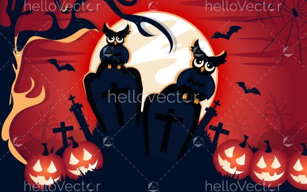 Halloween spooky night background