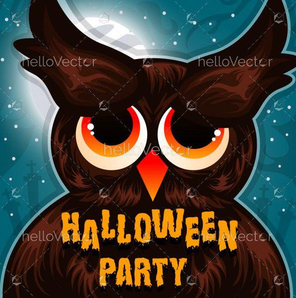 Halloween Owl Illustration