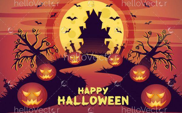Halloween vector background