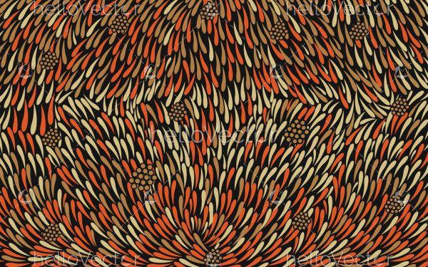 Bush leaves vector seamless pattern background