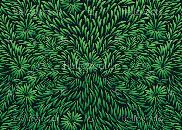 Green leaves seamless texture background
