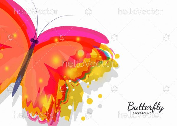 Abstract colored butterfly vector background