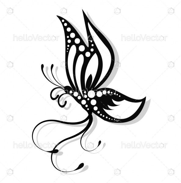 Butterfly Tattoo Design Vector